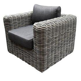 AVH-Collectie Cervo lounge tuinstoel grijs