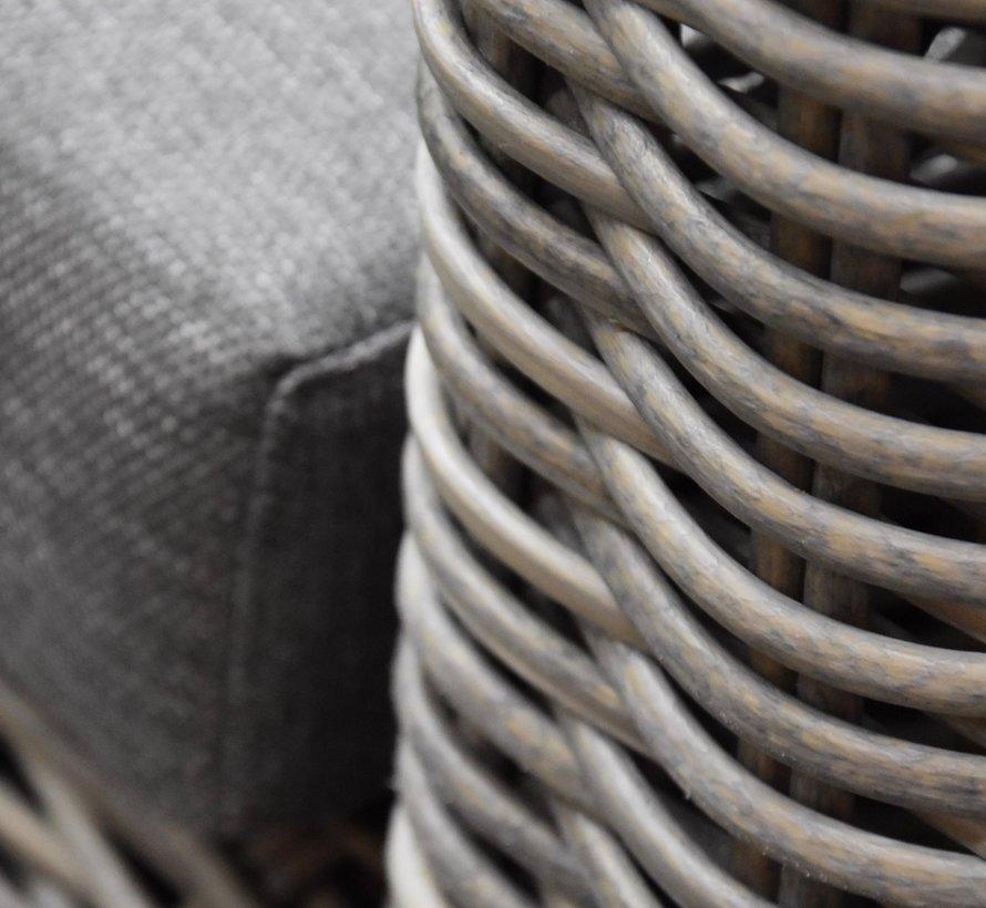 Cervo hoek loungeset 4-delig grijs wicker