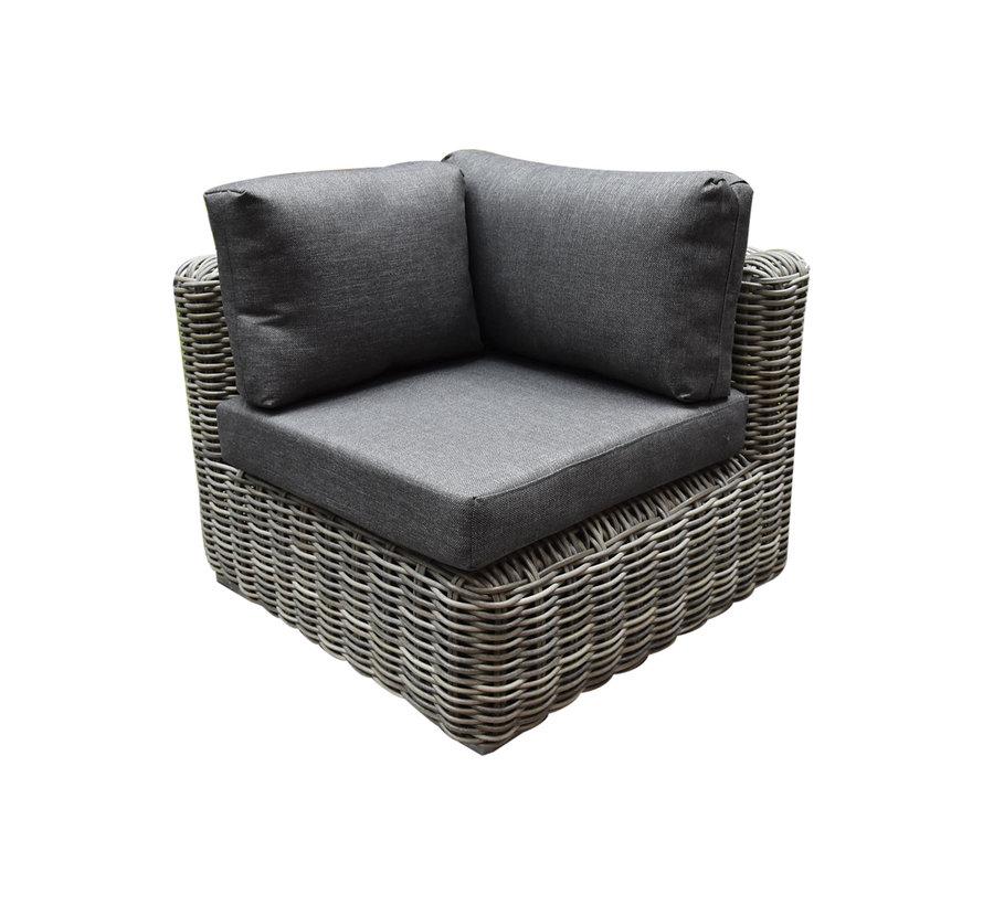 Cervo hoek loungeset 5-delig grijs wicker