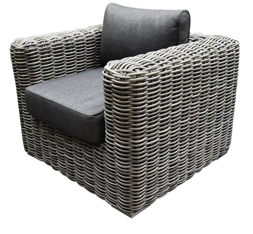 Cervo hoek loungeset 5-delig antraciet wicker