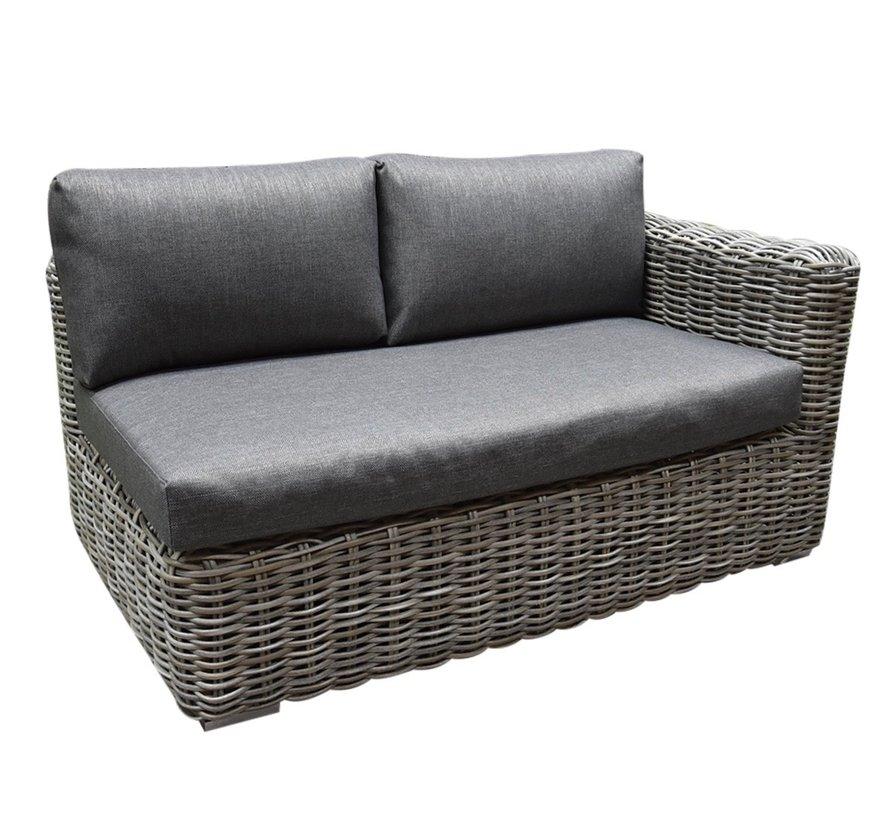 Cervo hoek loungeset 3-delig grijs wicker