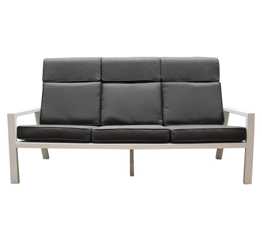 Palazzo loungeset 4-delig stoel-bank wit aluminium