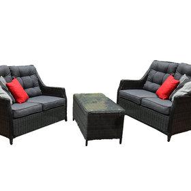 AVH-Collectie Dunham lounge bank + tafel set antraciet