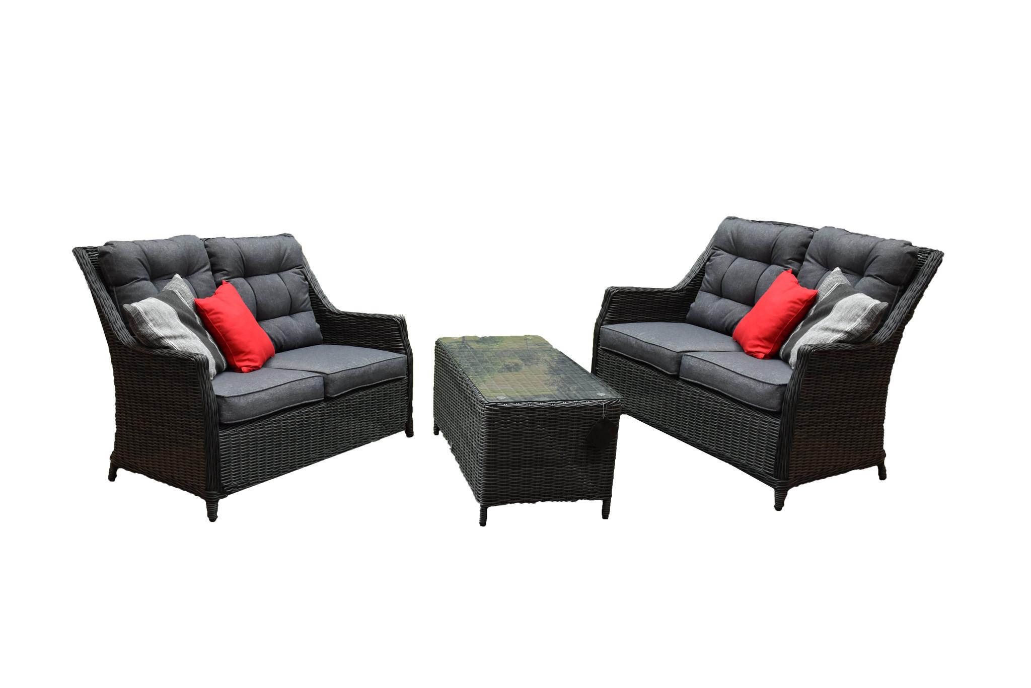 Lounge Bank Eettafel.Dunham Lounge Bank Tafel Set Antraciet