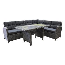 AVH-Collectie Amarillo 3-delige hoek loungeset grijs