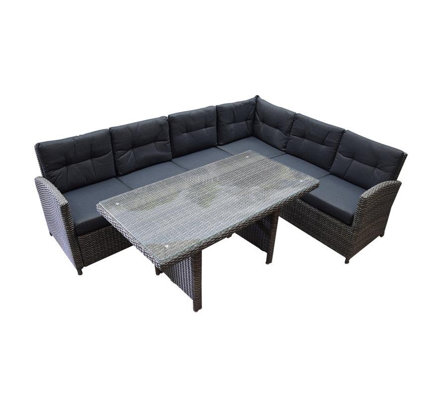 Amarillo 3-delige hoek loungeset grijs