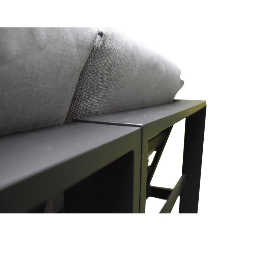Almeria hoekset 4 delig aluminium antraciet