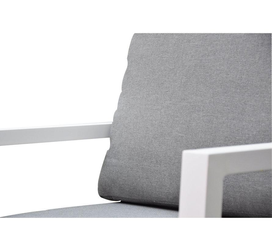 New York lounge tuinstoel aluminium wit