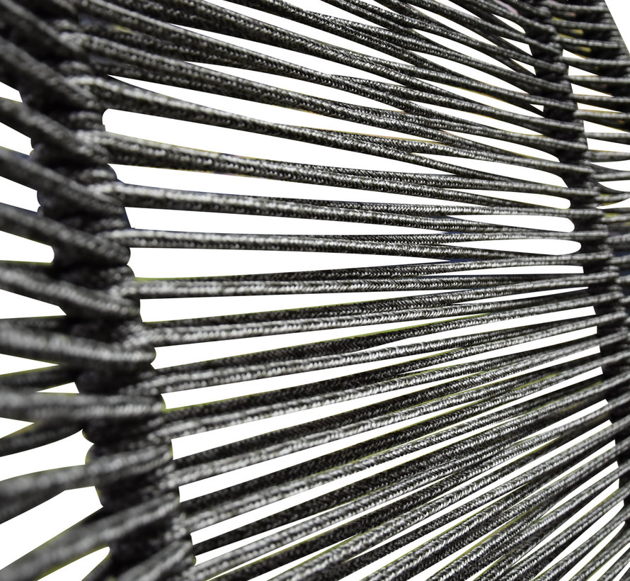 Faros loungeset rope grijs 3-delig