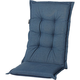Madison Standenstoel hoge rug kussen 123x50 cm Oxford blue