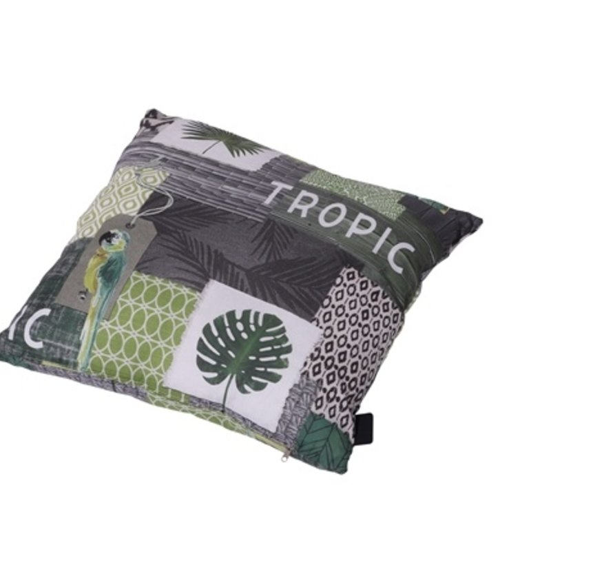 Sierkussen 50x50 cm Tropic green