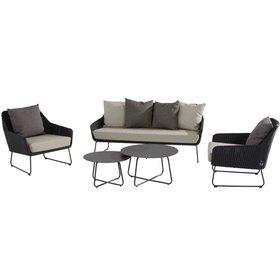 4 Seasons Outdoor Avila stoel-bank loungeset 4 Seasons Outdoor 5-delig