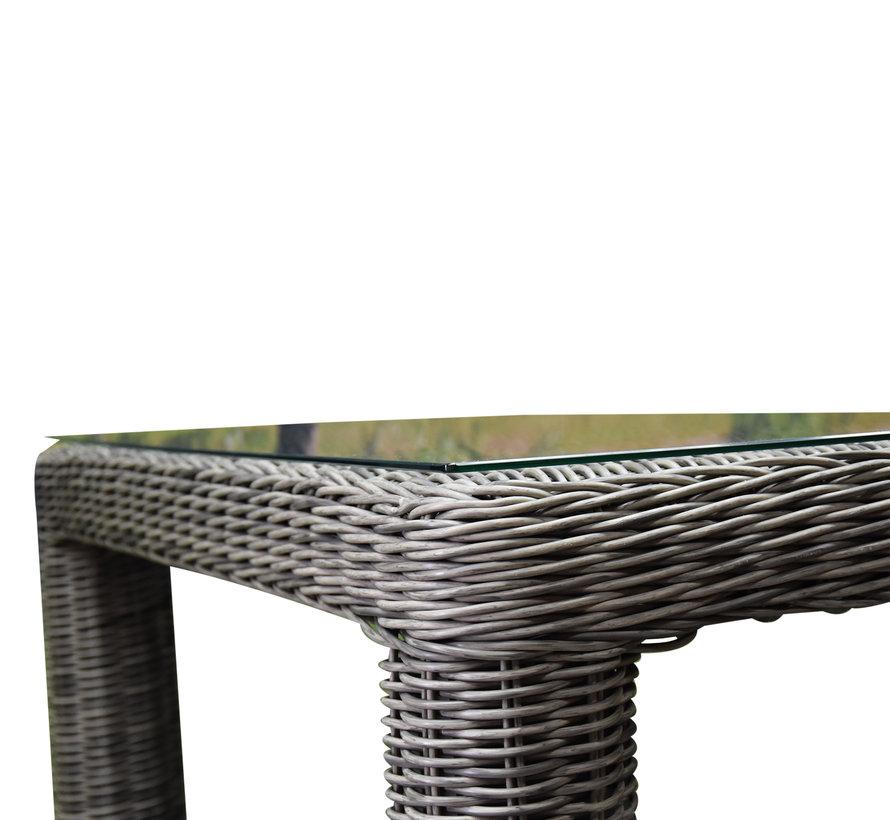 Bergamo dining tuintafel 240x100xH78 cm grijs