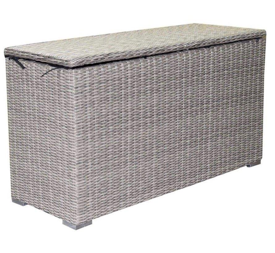 Kussenbox klein 126x47xH71 cm grijs