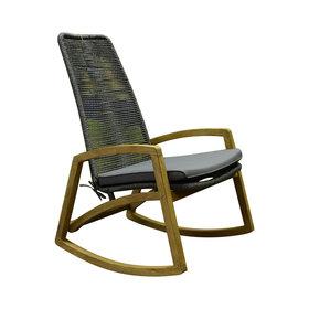 SUNS Faros lounge schommelstoel rope grijs