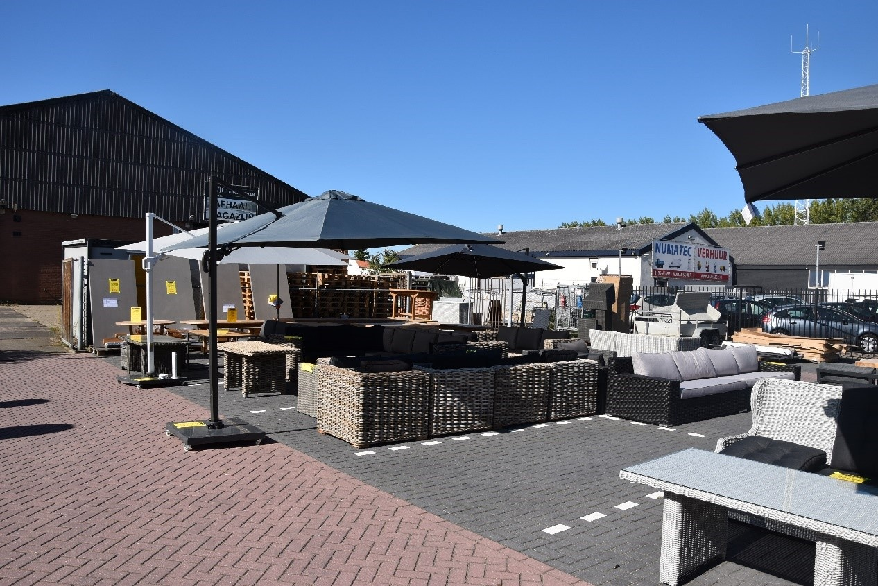 Outlet parkeerplaats