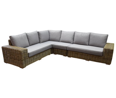 AVH-Collectie Otava hoek loungeset 4-delig naturel rotan
