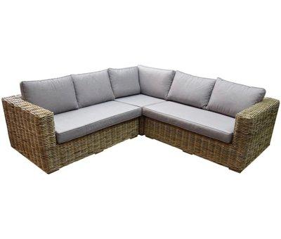 AVH-Collectie Serva hoek loungeset 3-delig naturel rotan