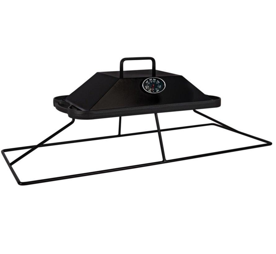 Easyfires grillplaat rechthoekig 78x33cm