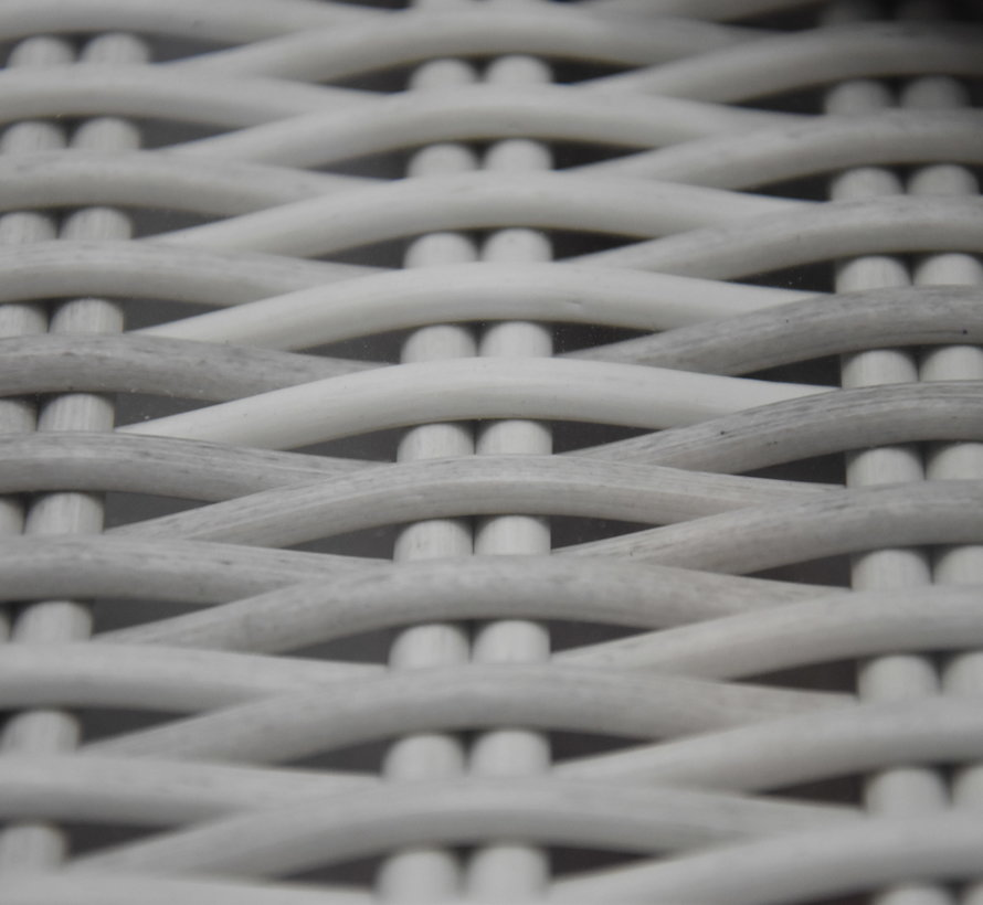 Darwin Riccione dining tuinset 110 cm rond 6-delig verstelbaar wit