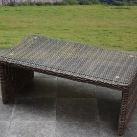 AVH-Collectie Salerno lounge tuintafel 103x53xH42 cm bruin - outlet
