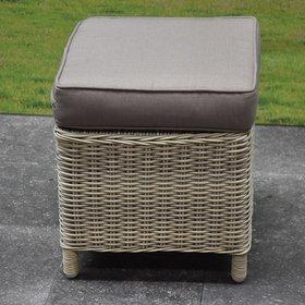 AVH-Collectie Krukje 43x43xH37  old white met kussen  - outlet