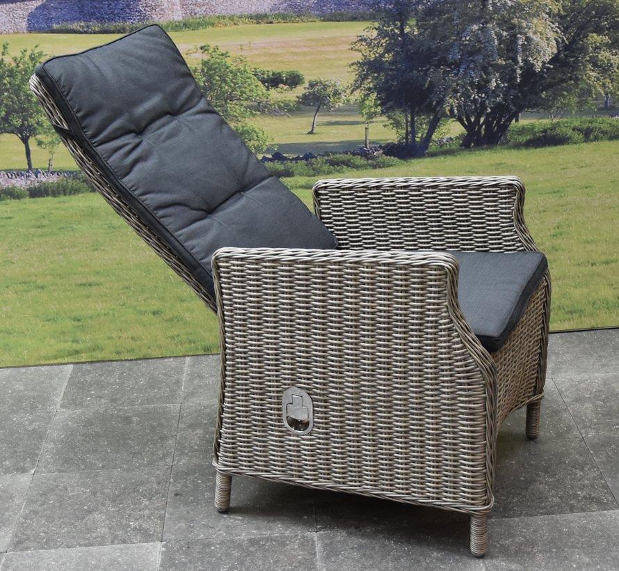 Empoli Riccione dining tuinset 150 cm 6-delig grijs verstelbaar