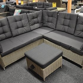 AVH-Collectie Madison hoek loungeset 3-delig grijs - outlet