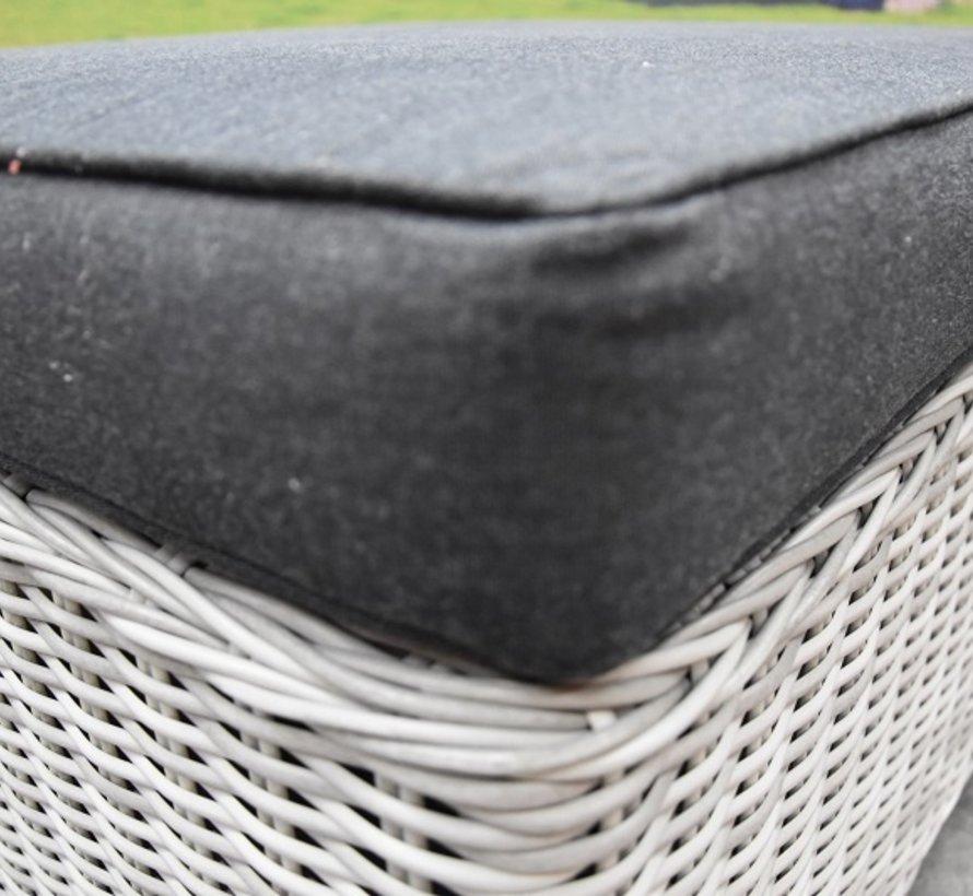 Ibiza voetenbank 92x92xH37 cm wit grijs