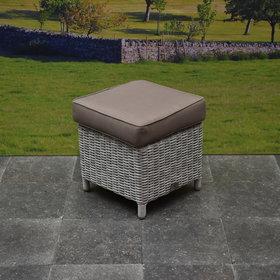 AVH-Collectie Krukje wit grijs 40x40xH43 cm + sand kussen - outlet