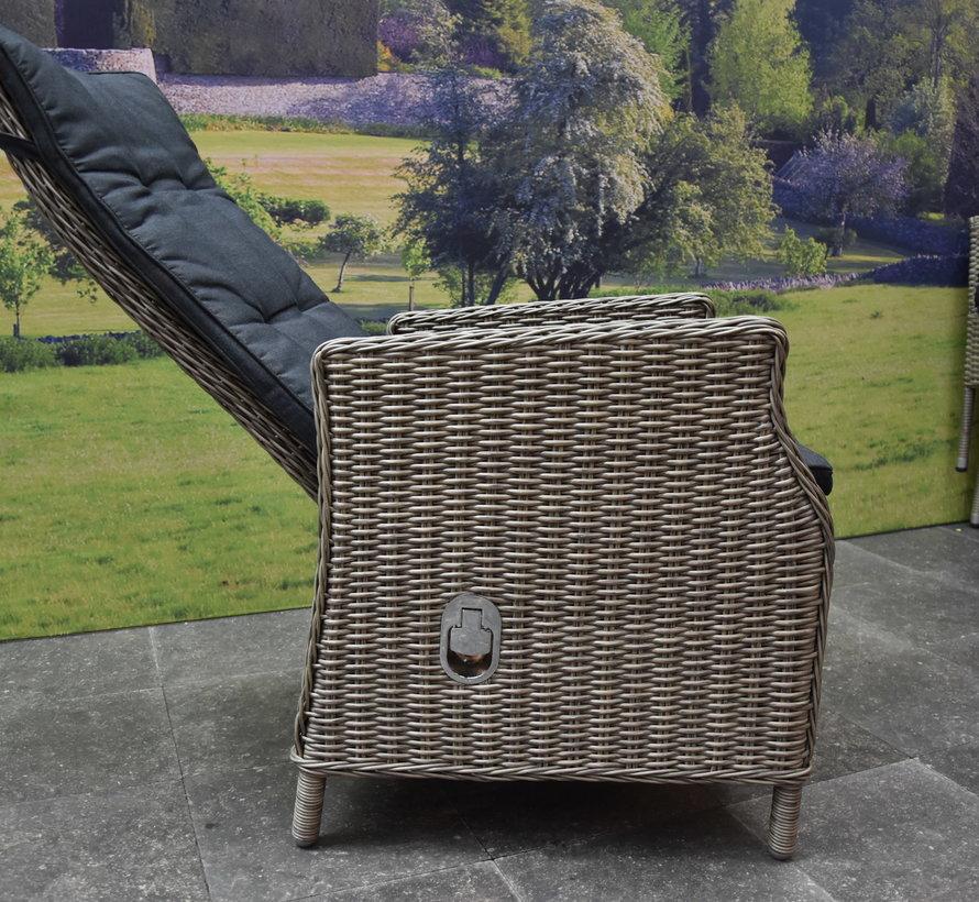 Empoli Riccione dining tuinset 110 cm rond 5-delig grijs