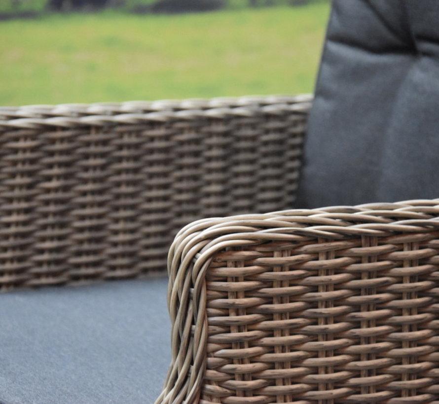 Empoli Bergamo dining tuinset 180x100xH76 cm 5-delig verstelbaar grijs