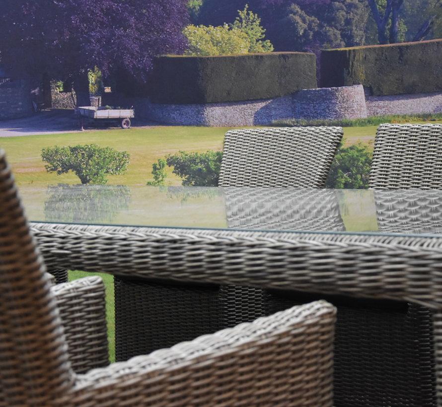 Capri Bergamo dining tuinset 240x100xH76 cm 7-delig grijs