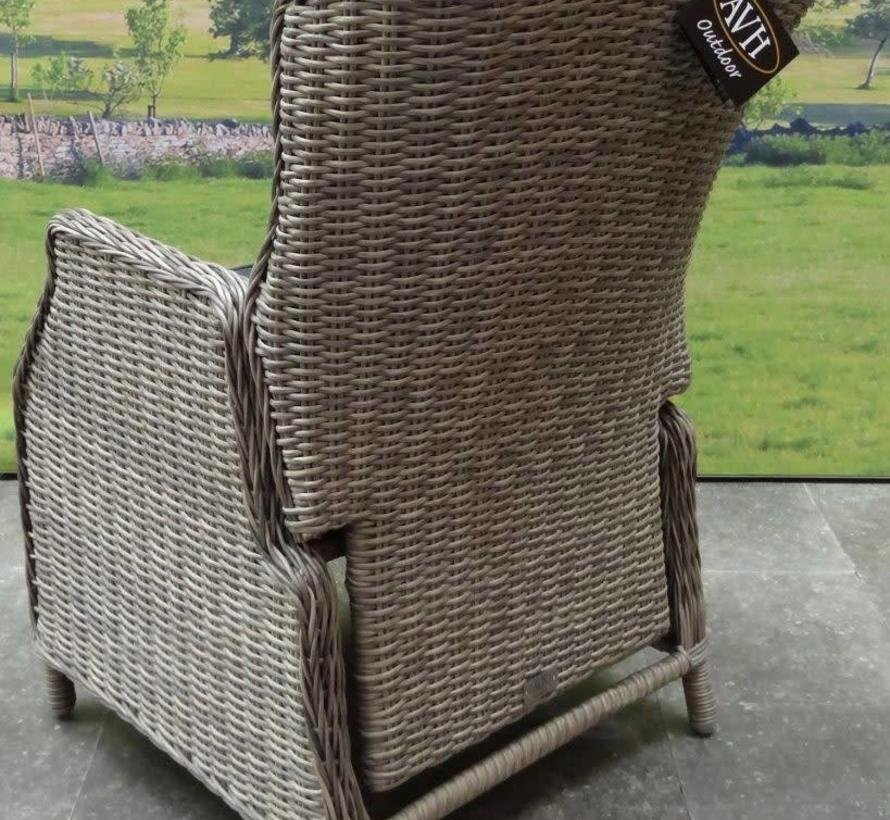 Darwin Bergamo dining tuinset 180x100xH76 cm 5-delig verstelbaar grijs