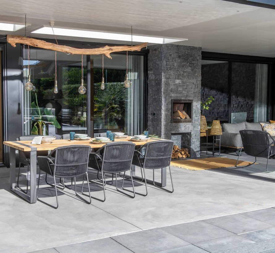 Accor dining tuinstoel antraciet 4-Seasons Outdoor