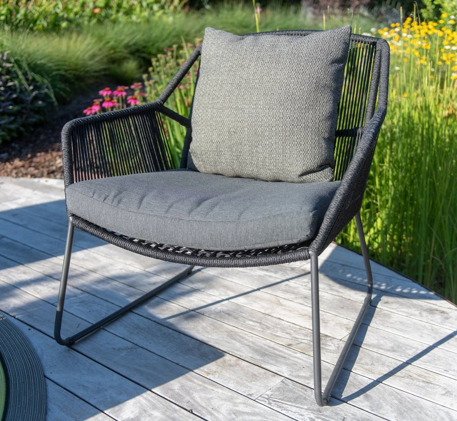 Accor lounge tuinstoel antraciet 4-Seasons Outdoor