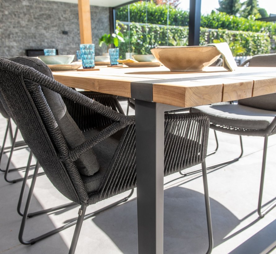 Accor Alto dining tuinset 7-delig 240x100xH76 cm 4 Seasons Outdoor