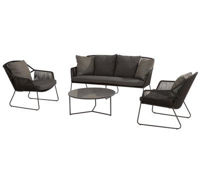 4 Seasons Outdoor Accor stoel-bank loungeset 4-delig rope 4 Seasons Outdoor