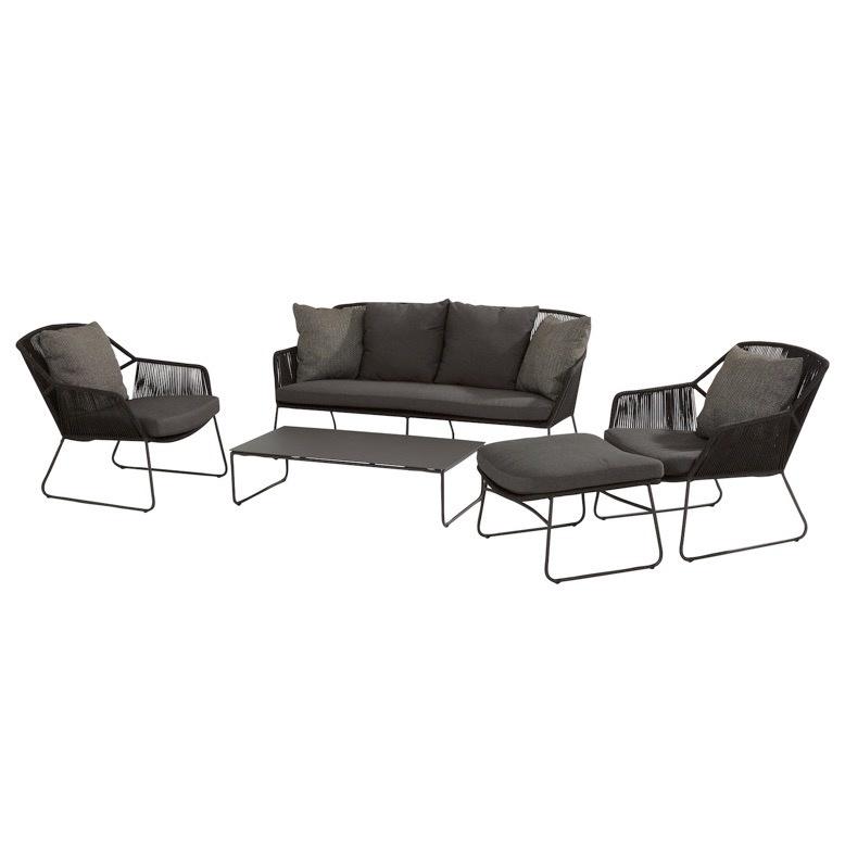 Accor stoel-bank loungeset 5-delig rope 4 Seasons Outdoor