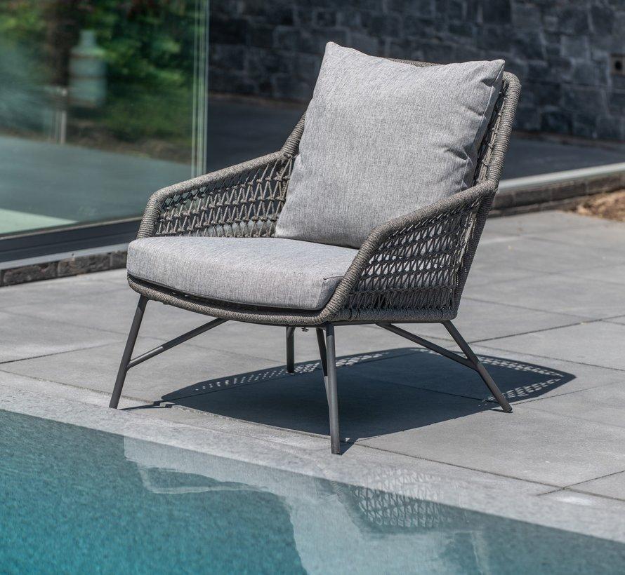 Babilonia lounge tuinstoel Mid grey 4-Seasons Outdoor