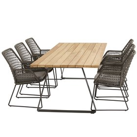4 Seasons Outdoor Babilonia Basso dining tuinset 7-delig 240x100xH76 cm 4 Seasons Outdoor