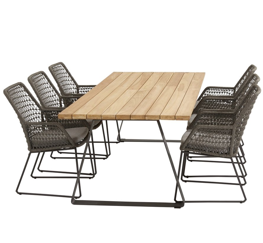 Babilonia Basso dining tuinset 7-delig 240x100xH76 cm 4 Seasons Outdoor