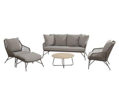 4 Seasons Outdoor Babilonia stoel-bank loungeset 5-delig rope 4 Seasons Outdoor