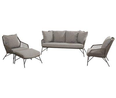 4 Seasons Outdoor Babilonia stoel-bank loungeset 4-delig rope 4 Seasons Outdoor