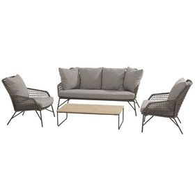4 Seasons Outdoor Babilonia stoel-bank loungeset 4-delig rope 4 Seasons Outdoor
