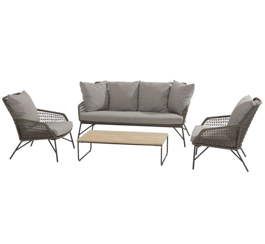 Babilonia stoel-bank loungeset 4-delig rope 4 Seasons Outdoor