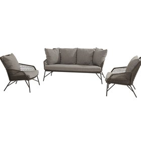 4 Seasons Outdoor Babilonia stoel-bank loungeset 3-delig rope 4 Seasons Outdoor