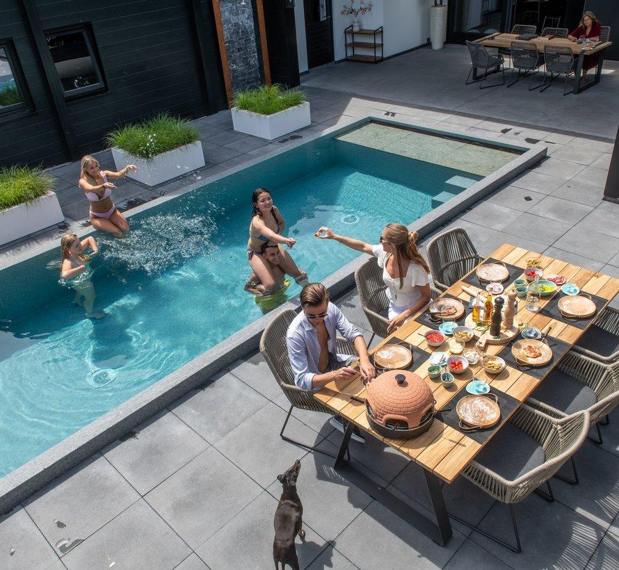 Ramblas dining tuinstoel taupe 4-Seasons Outdoor