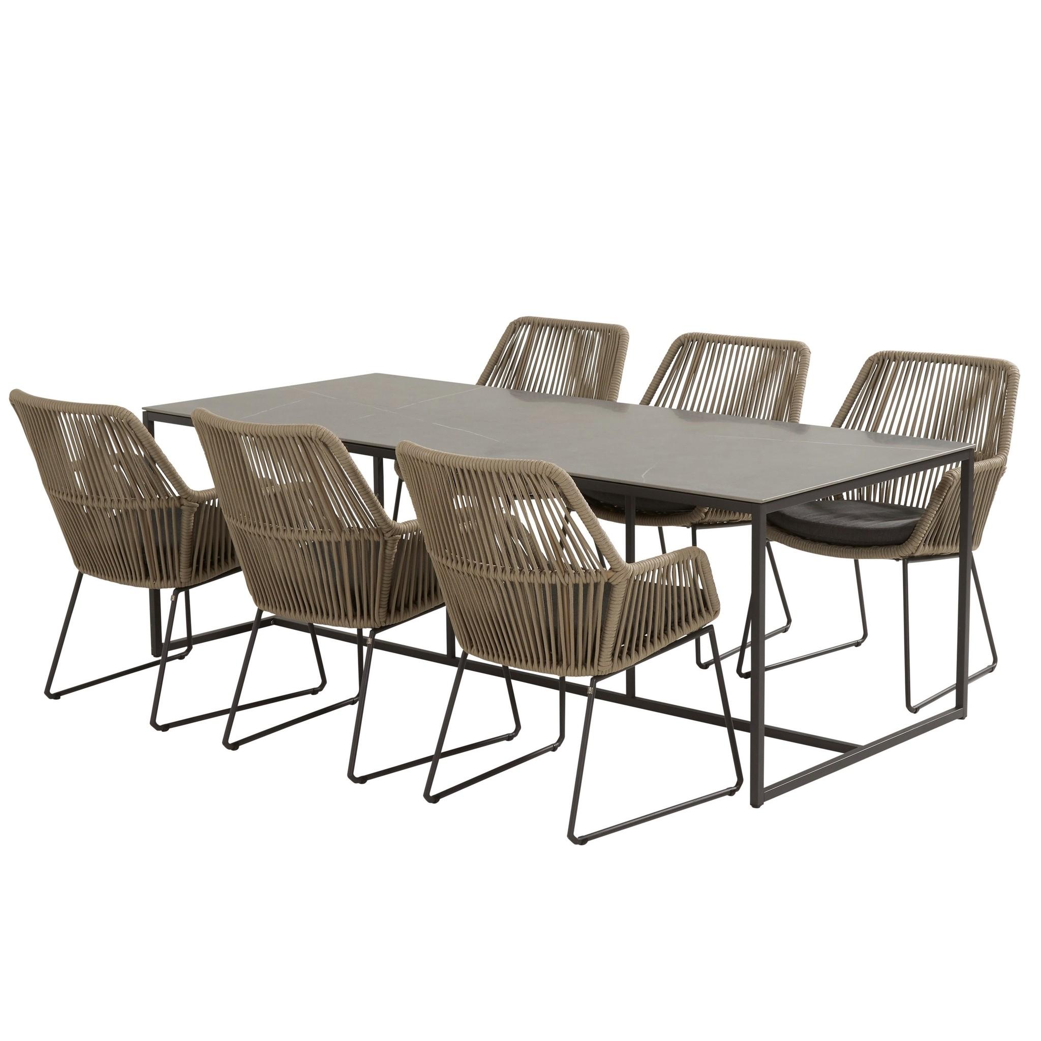Ramblas Quatro dining tuinset 220x95xH76 cm 7-delig 4 Seasons Outdoor