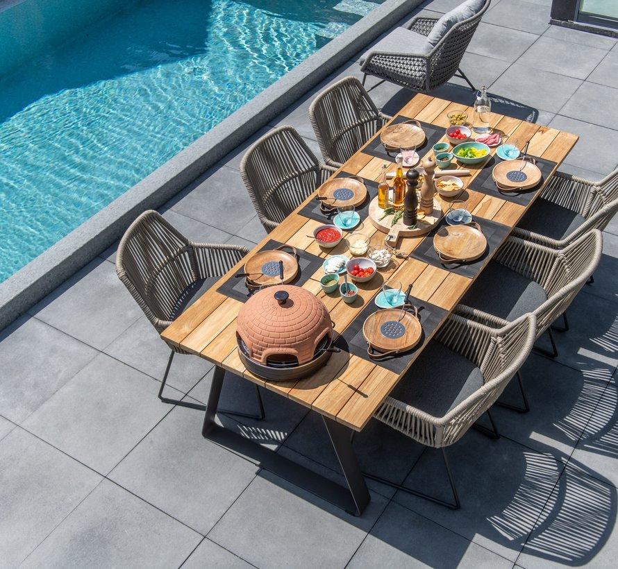 Ramblas Basso dining tuinset 7-delig 240x100xH76 cm 4 Seasons Outdoor